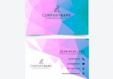 Free vector Low poly business card #17093