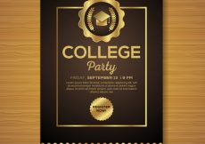 Free vector Luxury graduation party poster #12575