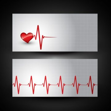 Free vector Medical banner with heart beat illustration #18972