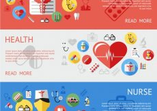 Free vector Medicine banners collection #18306