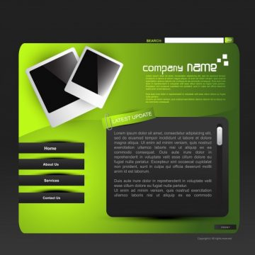 Free vector Modern green website template #18691