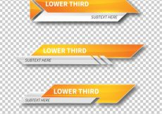 Free vector Modern lower third templates #12467