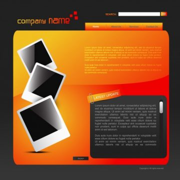 Free vector Modern orange website template #18689