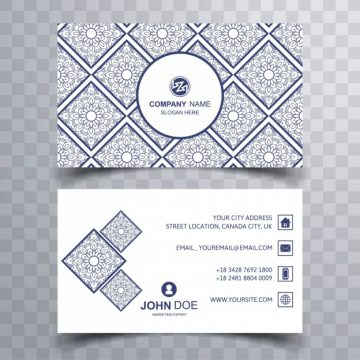 Free vector Modern white and blue business card #17967