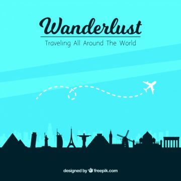 Free vector Monument and plane background #18697