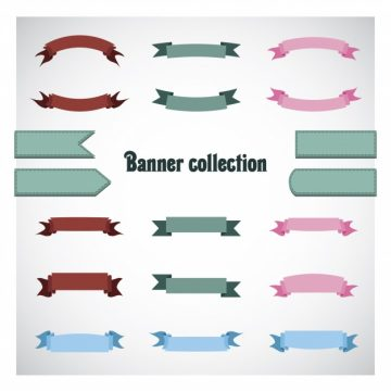 Free vector Multicolor ribbon collection #15097