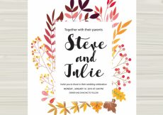 Free vector Multicolor wedding card #18933