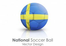 Free vector National football round leather symbol #14259