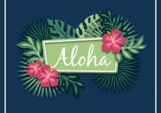 Free vector Natural aloha background #17462