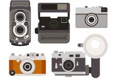 Free vector Old cameras collection #18005
