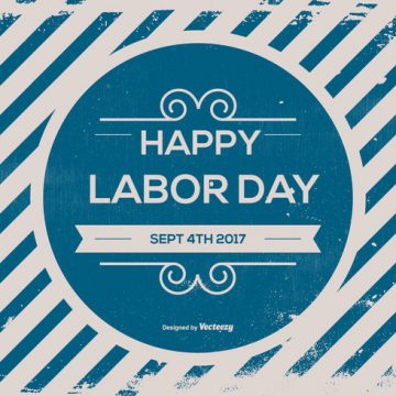 Free vector Old Retro Labor Day Background #14900