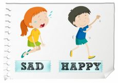 Free vector Opposite adjectives with sad and happy #18517