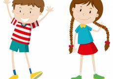 Free vector Opposite words for boy and girl #18515