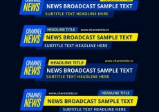 Free vector Pack of abstract lower thirds #12481