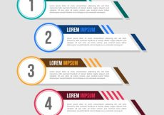 Free vector Pack of four infographic banners with color elements #14203