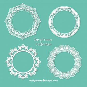 Free vector Pack of ornamental lace frames #18865