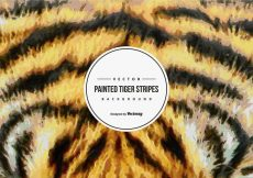 Free vector Painted Tiger Pattern Background #14360