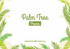 Free vector Palm leaves frame background #13173