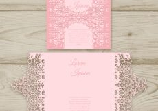 Free vector Pink card with laser cut #16981