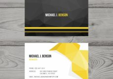 Free vector Polygonal business abstract card #16579