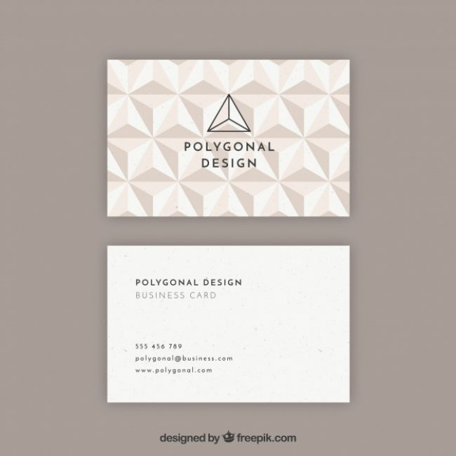 Free vector Polygonal sophisticated card #16306