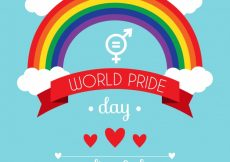 Free vector Pride day background with rainbow #16659