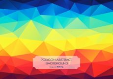 Free vector Rainbow Abstract Polygon Style Background Illustration #13376