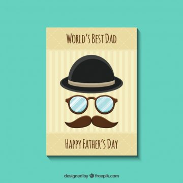Free vector Retro father's day card #14189