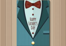 Free vector Retro jacket with bow tie for father's day #14183