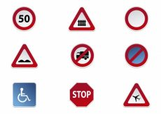 Free vector Road signs icon collection #16420