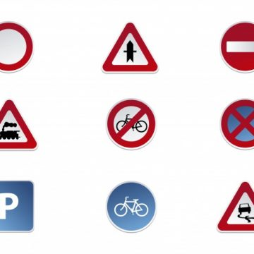 Free vector Road signs icon collection #16422