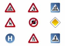 Free vector Road signs icon collection #16416