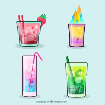 Free vector Set of sophisticated cocktails #18194