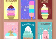 Free vector Several ice cream cards #14969