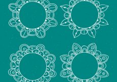 Free vector Several lace frames hand-drawn #18845