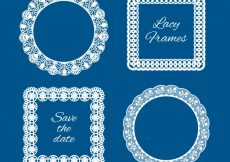Free vector Several lace vintage frames #18799