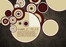 Free vector Stylish circle design with space for your text #16284