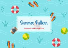 Free vector Summer pattern in flat design #14875