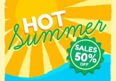 Free vector Sun background of summer sales #14835