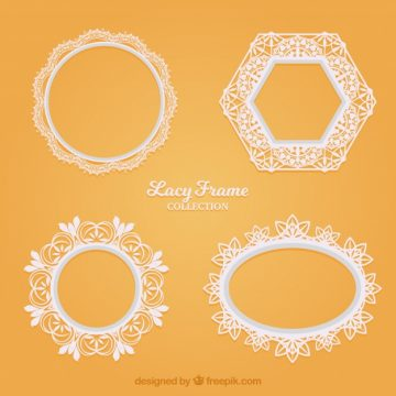 Free vector Various lace decorative frames #18851