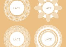 Free vector Various lace frames with flowers #18833