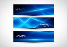 Free vector Abstract Blue Colored Header #12432
