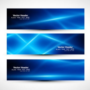 Free vector Abstract Blue Colored Header #18979
