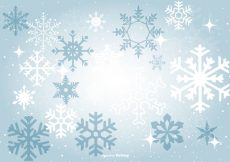 Free vector Beautiful Blue Snowflake Background #13480