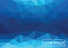 Free vector Blue Geometric Triangular Background #17431