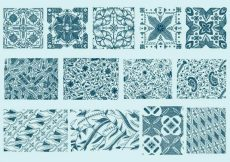 Free vector Blue Toile Textures #16860