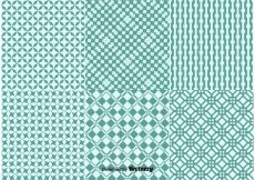 Free vector Geometric Green Background Patterns #13855
