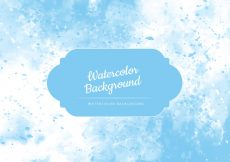 Free vector Vector Light Blue Watercolor Background #14488