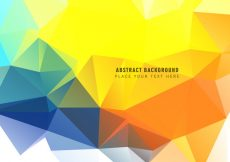 Free vector Polygonal Triangular Abstract Background #12646