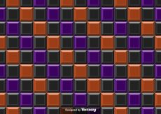 Free vector Vector Purple Orange And Black Tiles Abstract Background – Seamless Pattern #14432